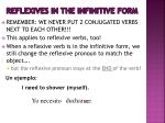 reflexives in the infinitive form