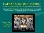 caesar s assassination