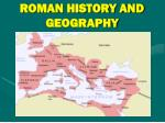 roman history and geography
