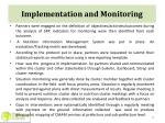 implementation and monitoring