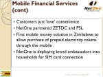 mobile financial services cont