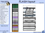 flash layout