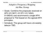 adaptive frequency hopping ad hoc group
