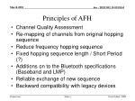 principles of afh