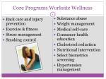 core programs worksite wellness