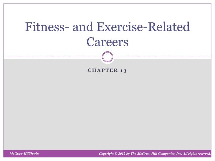 fitness and exercise related careers n.