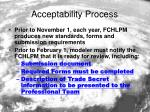 acceptability process
