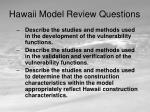 hawaii model review questions7