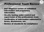 professional team review