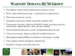 warto dodana hcm group