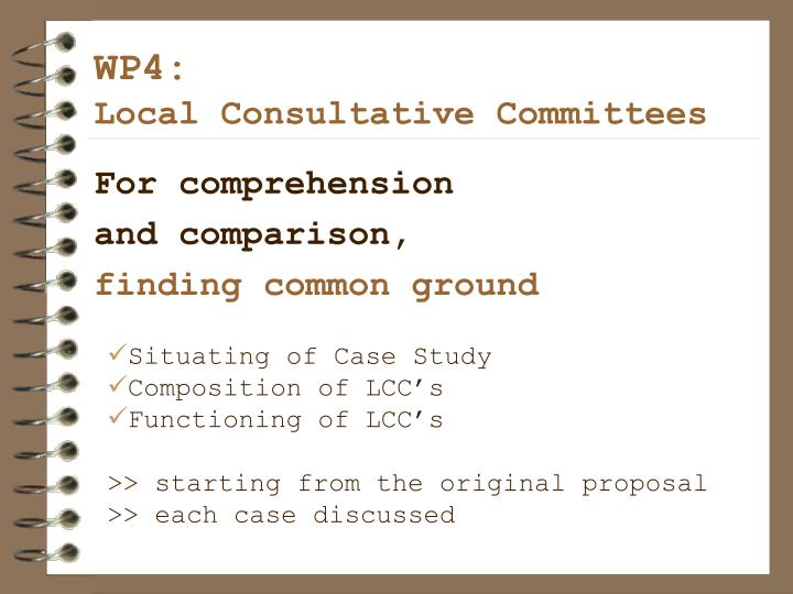 wp4 local consultative committees n.