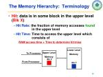 the memory hierarchy terminology