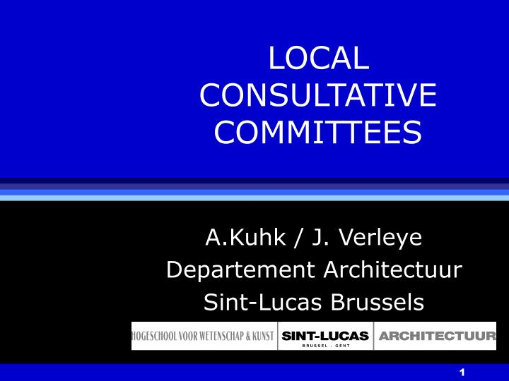 local consultative committees n.