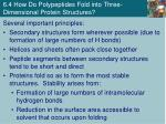 6 4 how do polypeptides fold into three dimensional protein structures