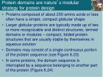 protein domains are nature s modular strategy for protein design