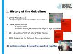 1 history of the guidelines