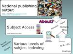 subject access in national bibliographies