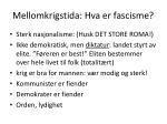 mellomkrigstida hva er fascisme