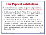 our papers contributions