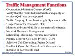 traffic management functions