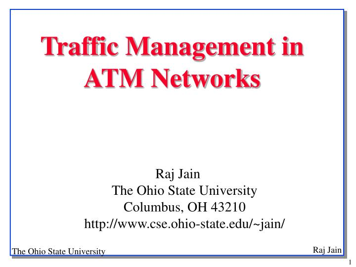 traffic management in atm networks n.