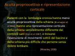 acuit propriocettiva e ripresentazione corticale
