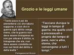 grozio e le leggi umane