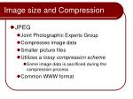 image size and compression