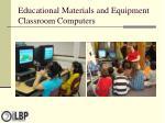 educational materials and equipment classroom computers