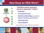 how does an hsa work