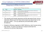 cross calibration of static swea swia