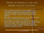 effects of obesity in low and middle income countries