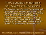 the organization for economic co operation and development