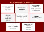 our yearbook sponsors