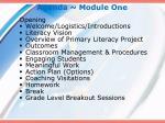 agenda module one