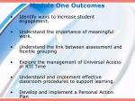 module one outcomes