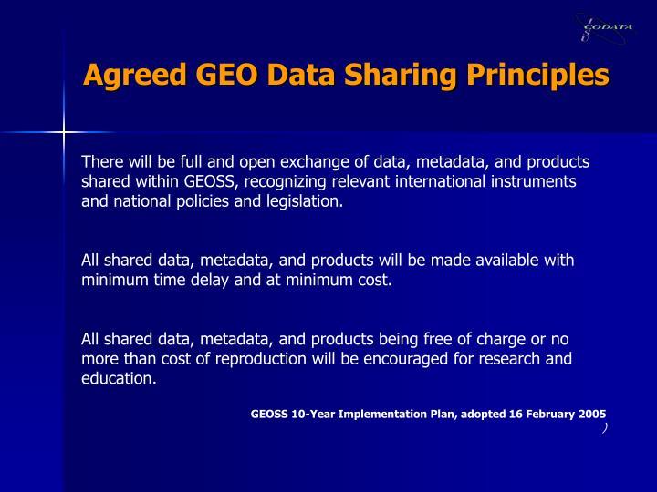 Agreed GEO Data Sharing Principles