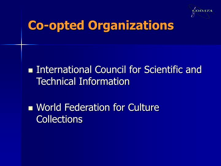 Co-opted Organizations