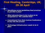 first meeting cambridge uk 29 30 april