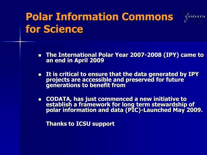 Polar Information Commons
