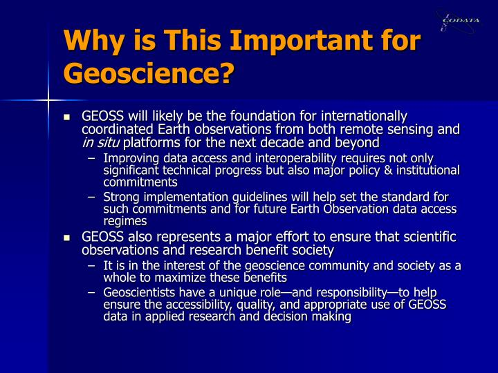 Why is This Important for Geoscience?