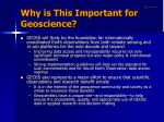 why is this important for geoscience