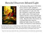 herschel discovers infrared light