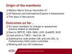 origin of the manifesto