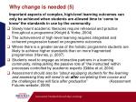 why change is needed 5