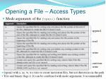 opening a file access types1