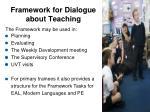 framework for dialogue about teaching
