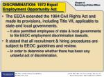 discrimination 1972 equal employment opportunity act