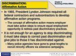 discrimination affirmative action