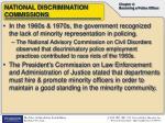national discrimination commissions